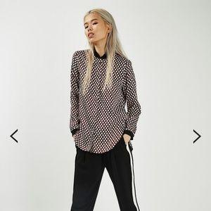 Topshop premium spot bomber shirt